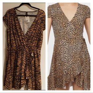 🎁16-NWT H&M Leopard Soft&Stretchy Dress w/ruffles